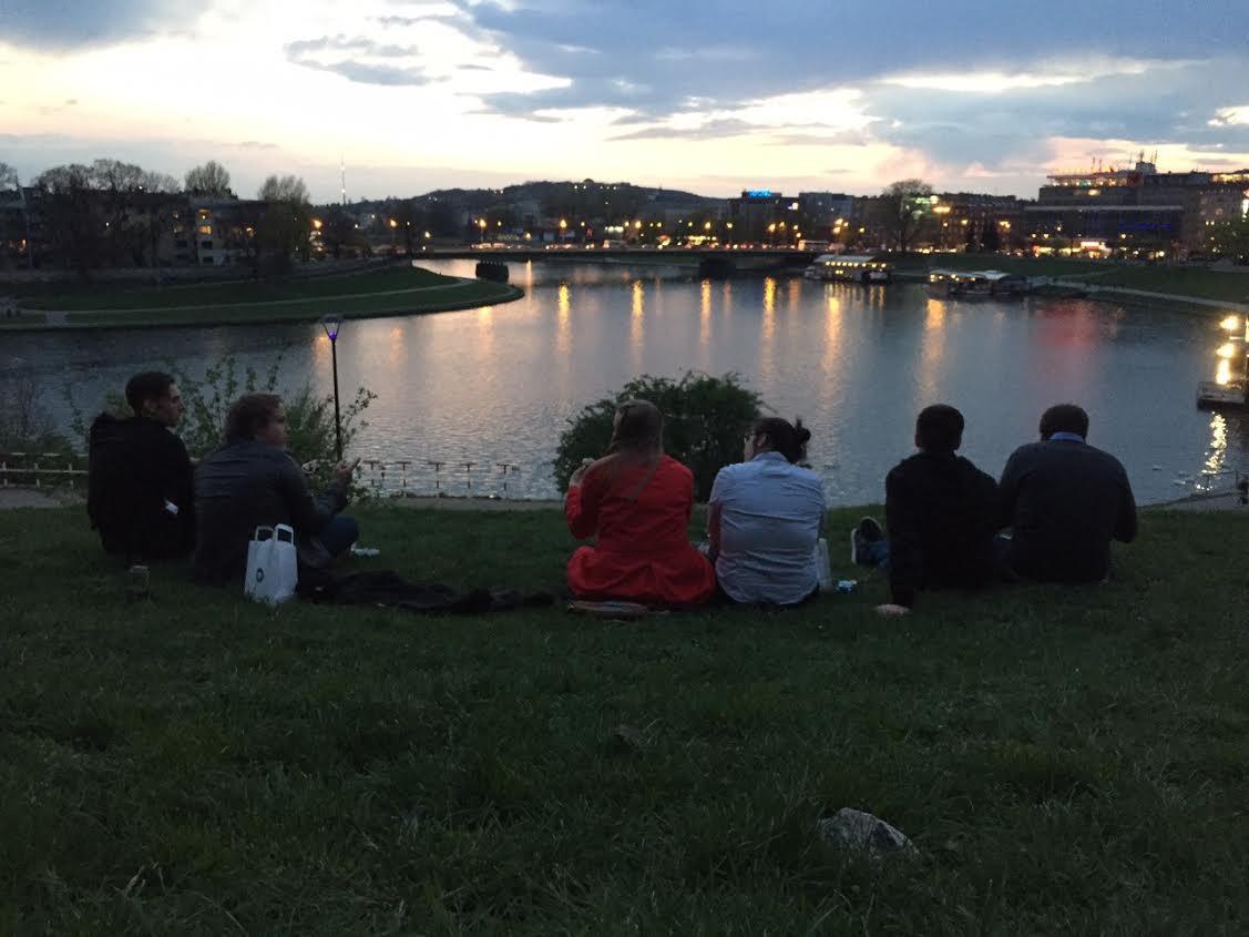 Krakow in the evening hours