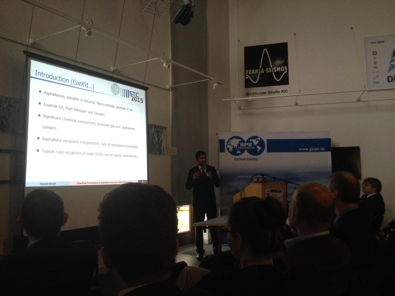 Haiwad Ahmad is presenting about Downhole Fluid Analysis