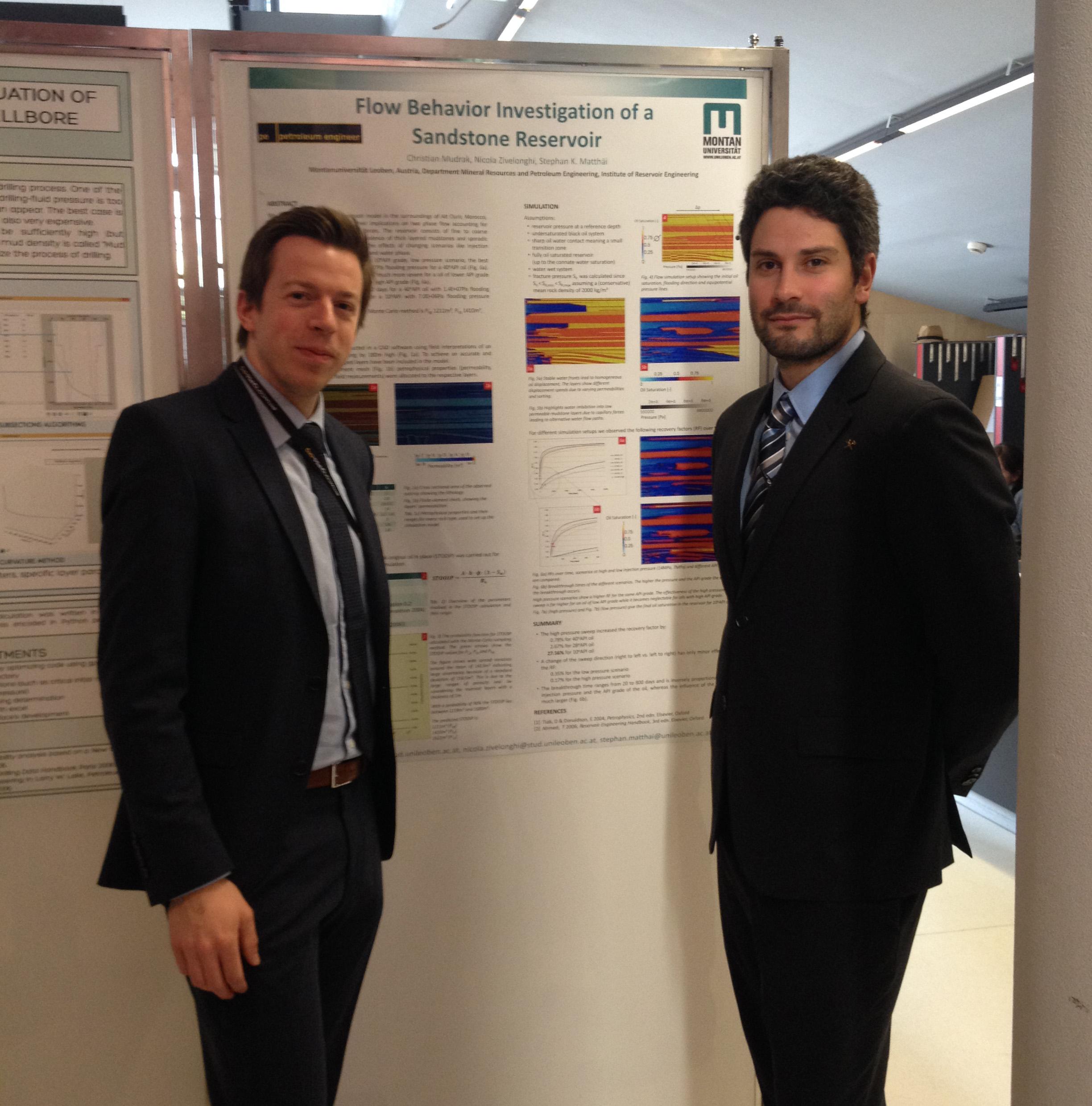 Christian Mudrak & Nicola Zivelonghi next to their poster presentation