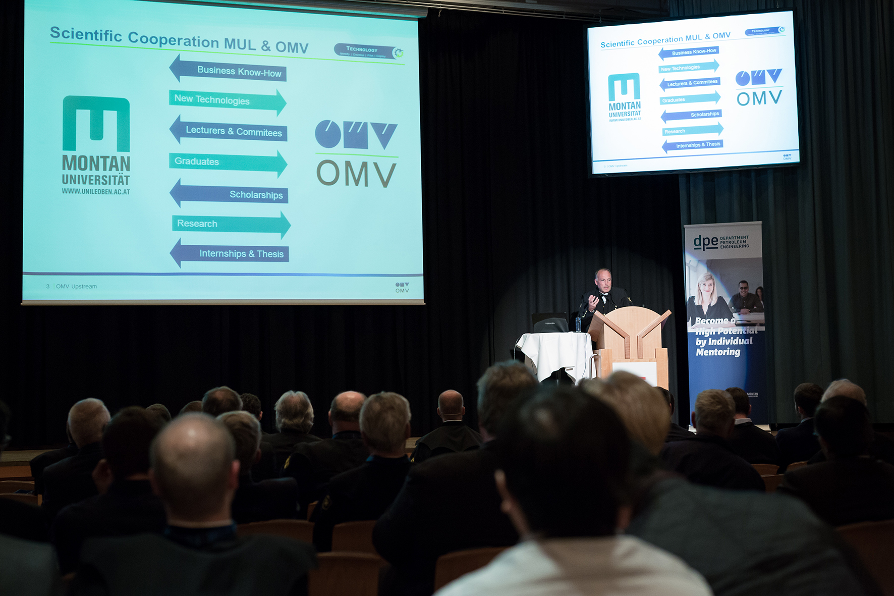 Chris Veit, SVP Exploration, Development and Production at OMV, explains the successful scientific cooperation between MUL and OMV.