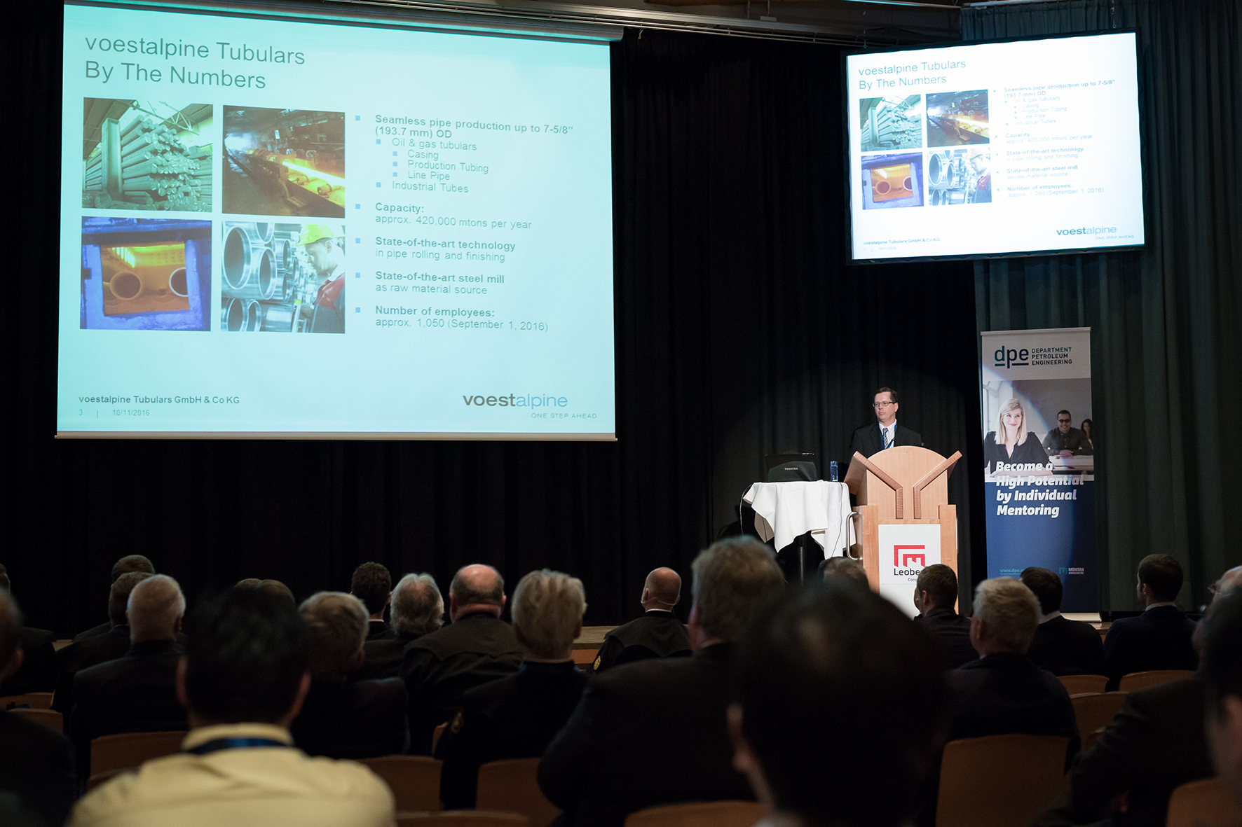 Ted Christiansen, Managing Director at voestalpine Tubulars, focused on innovation in his keynote.