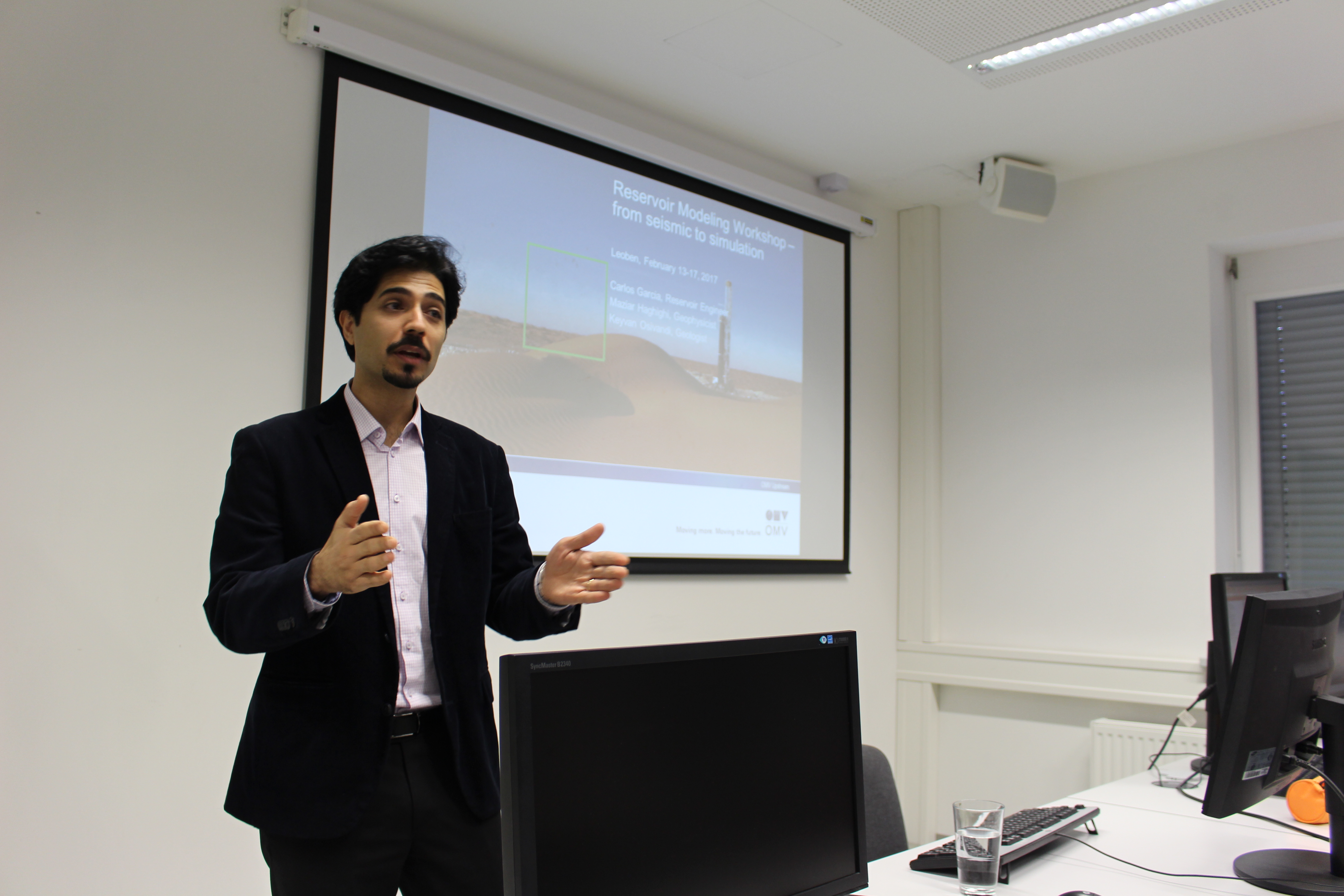 Mr. Haghighi giving an introduction into Petrel (Photo Credit: Thomas Herzog)