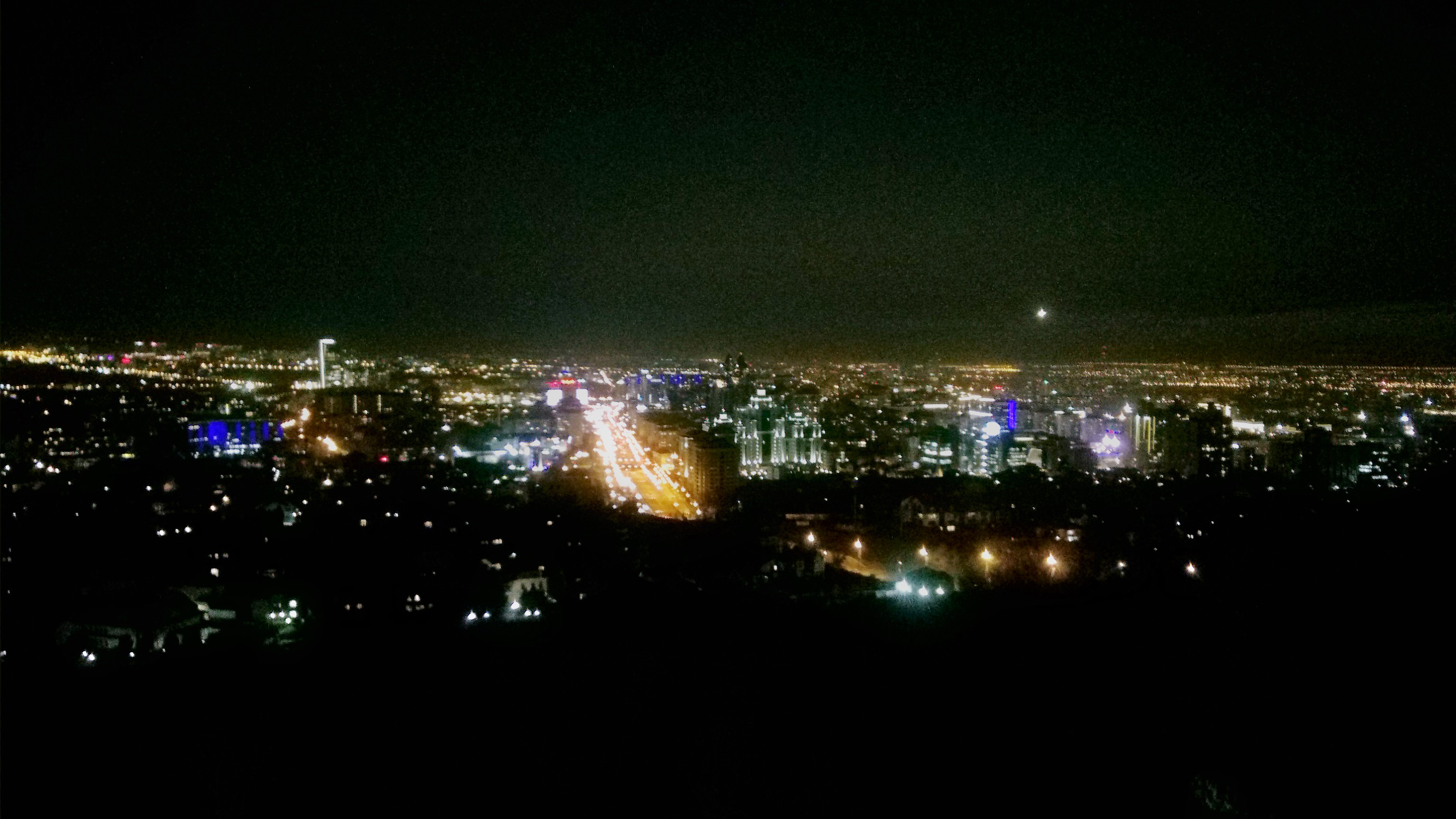 Stunning view of ALmaty, the former Kazakh capital at night