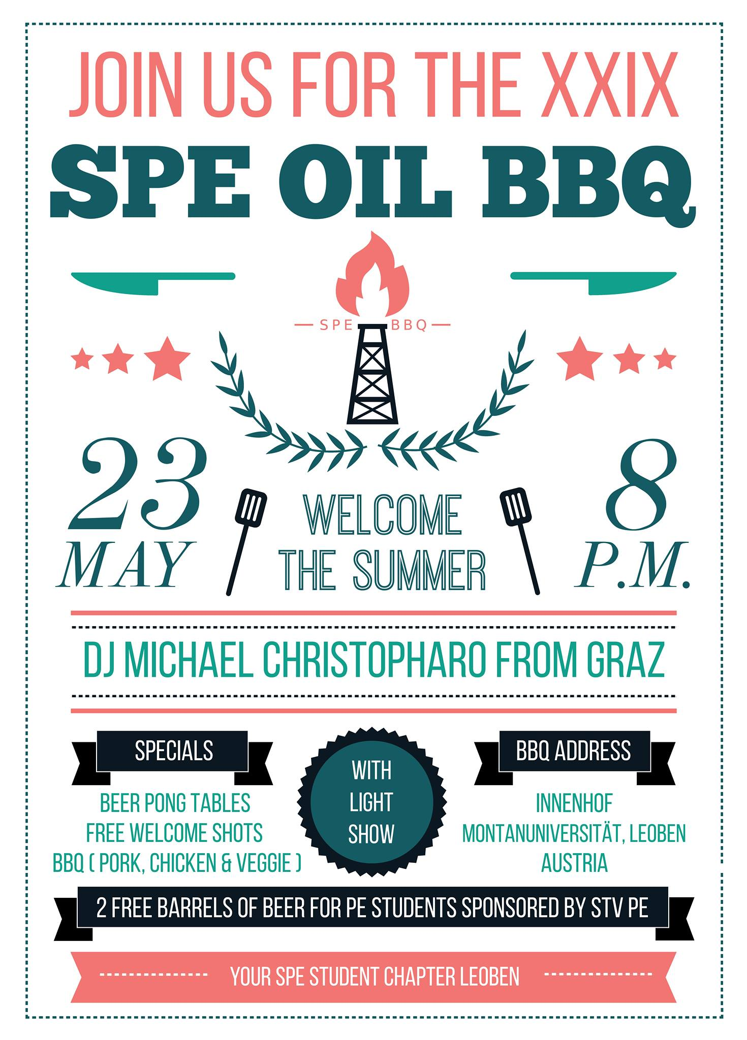 The SPE Student Chapter Leoben proudly presents the 29th SPE OIL BBQ!